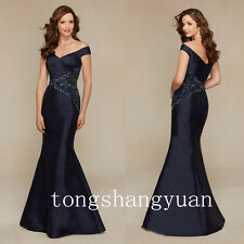 Mermaid Mother Of The Bride Dresses For Lady Beads Crystals Wedding Formal Gowns