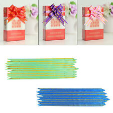 30/50/100PCS Small Pull Ribbon Bows Flowers Butterfly Wedding Xmas Party Decor