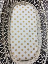 Bassinet, Moses or Boori basket fitted sheets, 100% cotton gold polka dots
