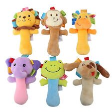 Cute Animal Handbell Developmental Plush Bell Infant Kid Baby Soft Toy Rattle AF