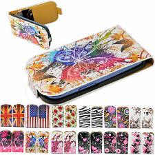 Flip Leather Card Holder Pouch Cover Case For Samsung Galaxy S III S3 Mini i8190