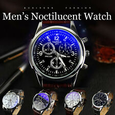 Luxury Mens Quartz Wrist Watch Waterproof Business Leather Band Casual Watch