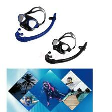 Unisex Adult Swimming Swim Scuba Diving Dive Anti-Fog Goggles Mask & Snorkel Set