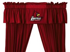 Louisville Cardinals Window Treatments Valance and Drapes