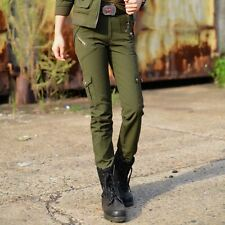Cargo Multi Pocket Army Green Trousers Military Pants Female Camouflage Ladies