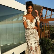 New White Ivory Wedding Dresses Lace Appliques Bridal Gowns Custom 2 4 6 8 10+