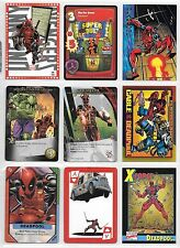 Deadpool, X-Men, Marvel card lot
