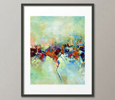 Gallery Canvas & Fine Art Prints #140 Red Abstract Contemporary Painting Modern