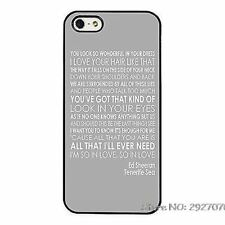 Ed Sheeran Song Lyrics Tenerife Sea Phone Case Cover For iPhone / Samsung