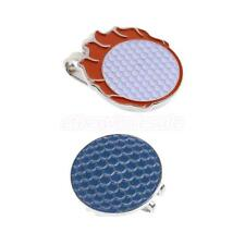 Sturdy Golf Pattern Magnetic Hat Clip Golf Ball Markers Fit for Cap Visor