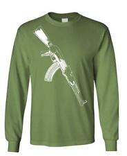 AK-47 - auto assault rifle gun rights - Long Sleeved Tee
