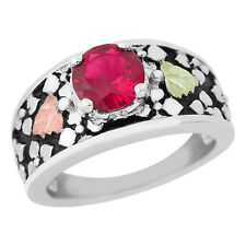 Black Hills Gold ruby ring womens synthetic whl/half size 5 6 7 8 9 .925 silver