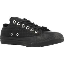 Women Athletic Sneakers Converse Chuck Taylor Craft Leather Casual Black 153565C