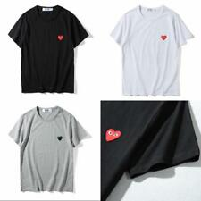 New Men's Comme Des Garcons CDG Play cute Heart  Short Sleeve Cotton T-shirts