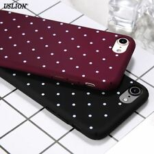 Fashion Cute Dots Phone Case For iPhone 7 6 6s Plus 5 5s SE Wine Red Ultrathin H