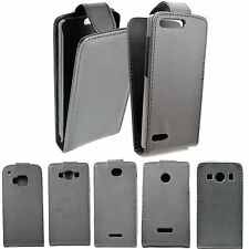 Flip Leather Hard Phone Accessory Snap On Pouch Skin Cover Case For Mobile Phone