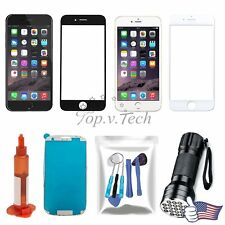 USA Front Outer Screen Cover Lens Replacement Parts For iPhone 4 5 6 7 Tools Kit