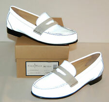 New $198 Cole Haan REFLECTIVE Nike Air Monroe Penny Loafer Argento Silver