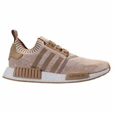 ADIDAS NMD R1 PRIMEKNIT LINEN KHAKI MEN'S RUNNING GYM TRAINING ATHLETIC  SHOES