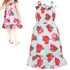 Toddler Kid Girl Beach Floral Flower Dress Princess Party Pageant Swing Sundress
