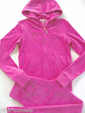 Juicy Couture Velour J Bling Tracksuit Hoodie Pocket Pants Glamour Pink Medium M
