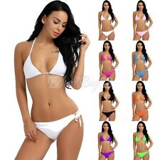 Women Brazilian Bikini Set Strappy Bandage Swimwear Swimsuit Beach Bathing Suit