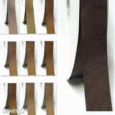 "Grosgrain Ribbon 1/8"" /3mm Wholesale 350 Yards,Discount Ivory to Brown Thin"