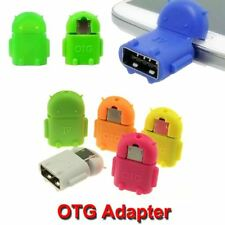 Micro USB OTG Adapter Mini Portable Robot Shape Android Converter For Tablet PC
