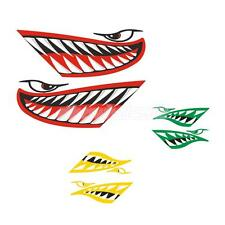 2x Vinyl Shark Mouth Kayak Canoe Fishing Boat Car Jet Ski Decals Funny Stickers