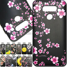 Soft Case Back Cute Cover Embossing Rubber Black TPU Painted Skin For LG G6/H870