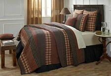 5PC Beckham Country Quilted Bedding Set by VHC Brands - Quilt, 2 Shams, Bedskirt