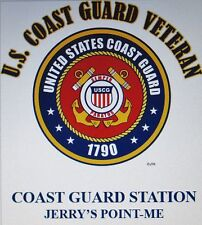 US COAST GUARD STATION JERRY'S POINT-ME*COAST GUARD VETERAN EMBLEM*SHIRT