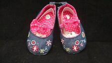 BABY Infant Girls Flower Denim Pink - Yellow Mary Jane Shoes Toddler Flats PICK