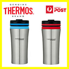 THERMOS THERMOCAFE VAC INSULATED STAINLESS STEEL TRAVEL TUMBLER 380ml RED/ BLUE