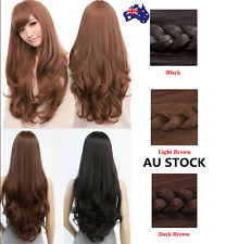 Women Girl Wavy Curly Long Wig Party Cosplay Costume Fancy Anime Wig+Wig Cap