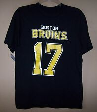 Youth BOSTON BRUINS Black Gold Shirt NHL Jersey #17 MILAN LUCIC Hockey
