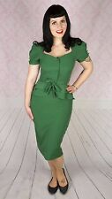 Stop Staring Rosemary Dress with Peplum in Green NWT
