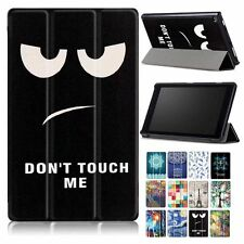 """PU Leather Painted Case Cover Skin For 8"""" Amazon New Kindle Fire HD 8 2017+Film"""
