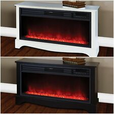 Electric Fireplace Heater Remote Infrared Thermostat Timer LED Flame Low Profile