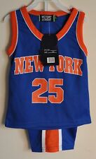 NEW YORK 25-Baby Boys BASKETBALL JERSEY SHORTS SET 12-18 Months- Derrick Rose