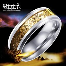 Beier 316L Stainless Steel ring wedding  simple exquisite jewelry  men/women  Fa