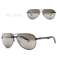 RAY-BAN RB8313 004-N3 New Sunglasses Men Carbon Fibre Polarized mir from Italy