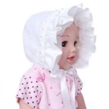 Toddler Infant Baby Girls Floral Ribbon Hat Summer Sun Bonnet Cap Chin Strap