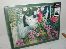 LANG 500 PIECE PUZZLE SUMMER WINDOW WHITE Persian CAT New/Sealed FREE SHIPPING
