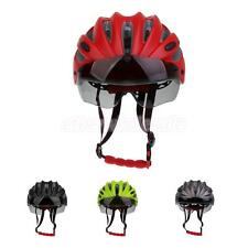 Unisex Adult Adjustable Road Sport Bike Cycling Bicycle Safety Helmet +Visor