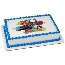 Justice League Edible Cake OR Cupcake Toppers Decoration (superman, batman)