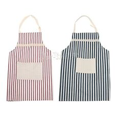 Men and Women Unisex  Apron with Pocket Stripe for Cooking Kitchen Chef Waitress