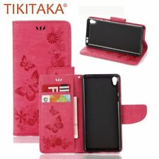 For Sony Experia E5 Case Coque Retro Imprint Butterfly PU Leather Flip Phone Cas