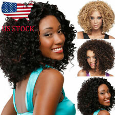 Afro African Short Curly Bob Wigs for Black Women American Wig Hair Gold Brown