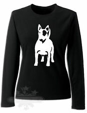 ENGLISH BULL TERRIER  T-SHIRT LADIES LONG SLEEVE T SHIRT  S M L XL XXL